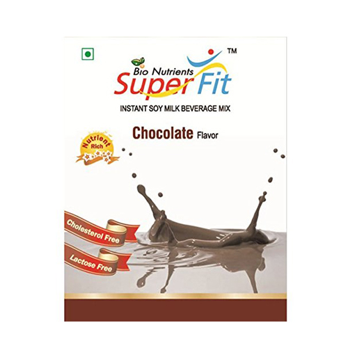 Super Fit Instant Soy Milk Beverage Mix Chocolate 200gm Pack